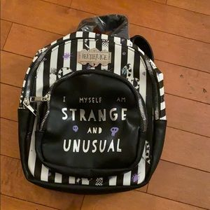 BEETLEJUICE STRANGE & UNUSUAL Backpack Purse(READ